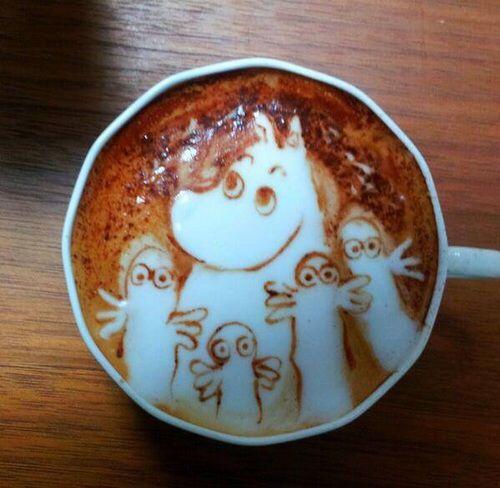 Mumintroll / The Moomins  Coffee #coffeeart #moomins