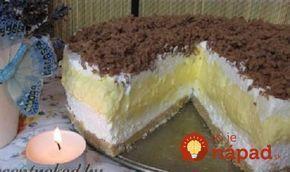 """Luxusný dezert celkom na studeno. Je výborná a na jej prípravu netreba zapínať rúru a dokonca ani sporák. Je to fantastická pochúťka, u nás doma jej nehovoríme inak ako """"Nebeská torta""""!"""