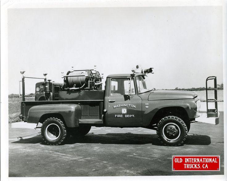 1965 International 1300 4x4 brush firetruck ...