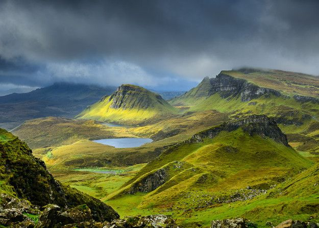 The Quiraing, a Unique Landscape and One of Skye's Main Attractions.