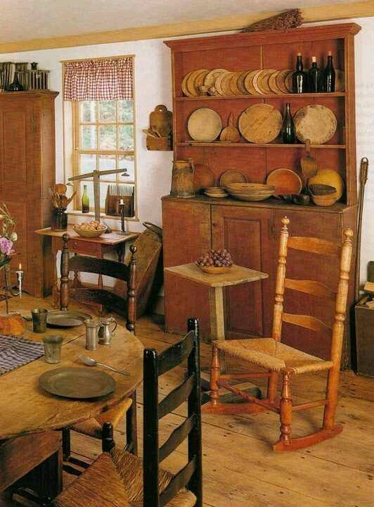 so cozy warm and inviting antique country primitive pinterest warm country dining. Black Bedroom Furniture Sets. Home Design Ideas