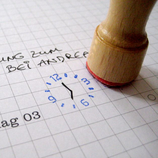 clock stamp dayplanner♡