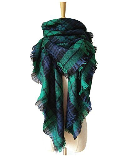 Lanzom Large Tartan Fashion Women Warm Blanket Scarf Lovely Wrap Shawl - http://droppedprices.com/scarves/lanzom-large-tartan-fashion-women-warm-blanket-scarf-lovely-wrap-shawl/