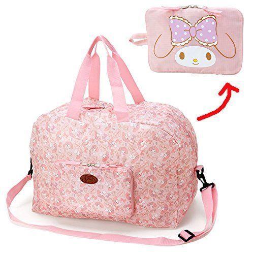 New! My Melody Foldable Boston Bag Pink Patch Bag Travel Bag Sanrio Japan F/S #Sanrio