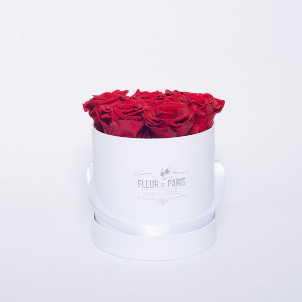 Caixa Premium Branca – Infinity Roses – Fleur de Paris