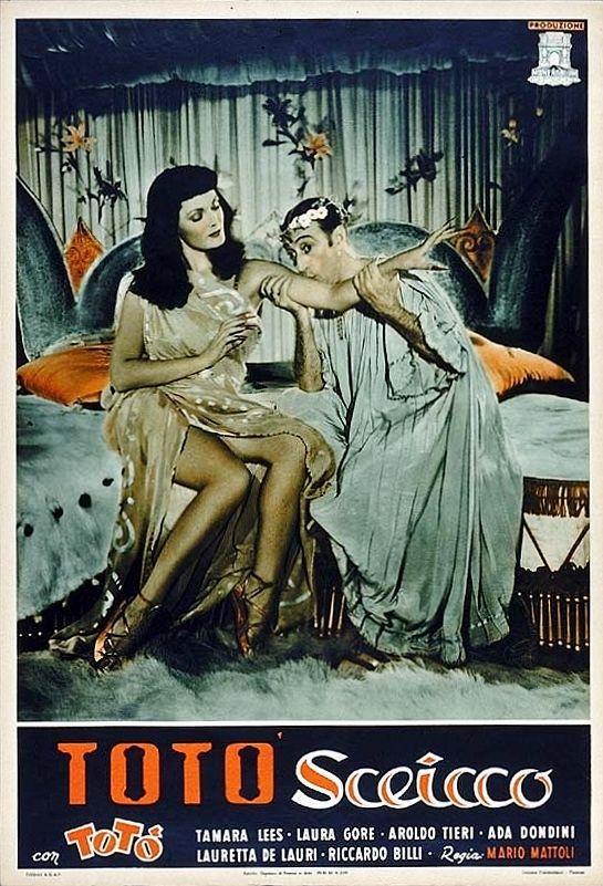 "Tamara Lees and Totò (Antonio De Curtis) - Poster for Mario Mattoli's ""Totò sceicco"" (Italian title: ""Totò sheik"", 1950)."
