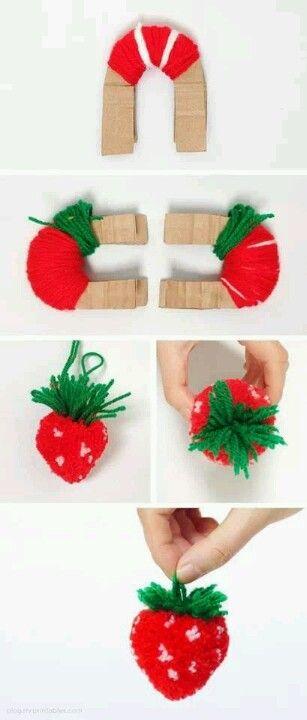 Pompon fraise.