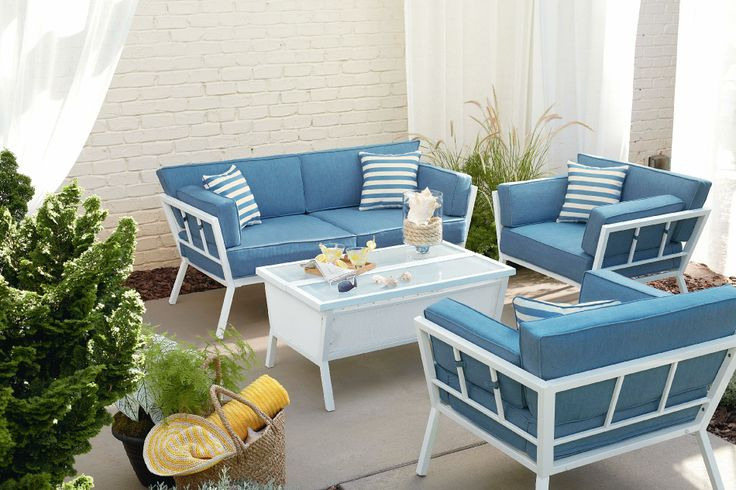 outdoor living patio furniture casual seating sets pool house