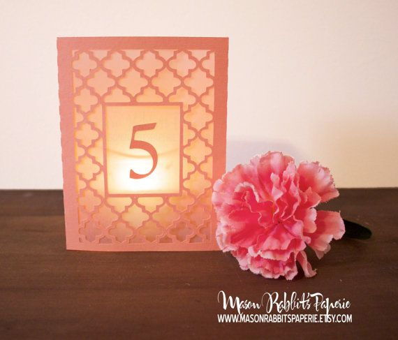 New Maria Box Luminary Wedding Table Numbers. Wedding Table Markers, Luminaries, Wedding Decor on Etsy, $3.50