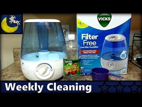 How to Clean Vicks Cool Mist Humidifier - Weekly Cleaning with Vinegar - YouTube