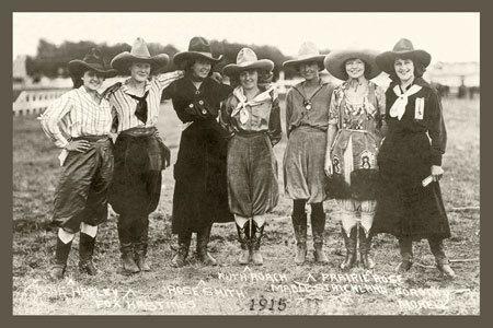 Bozeman Montana : Cowgirls : 1915