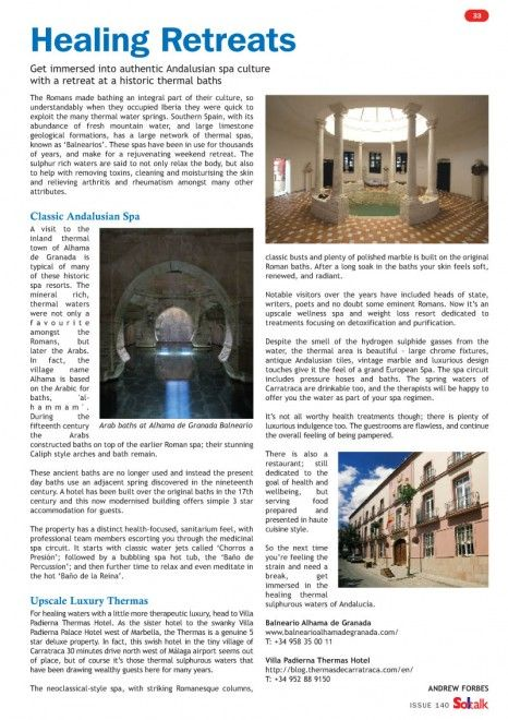 Andrew Forbes gets immersed in Andalusian Spa Culture