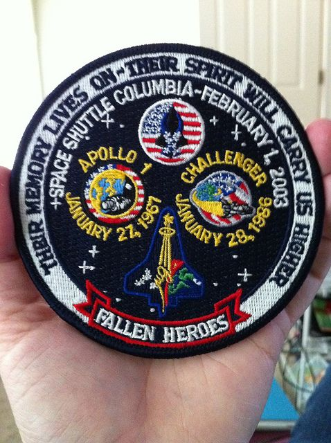 columbia sts 107 | Apollo 1, Challenger STS-51L & Columbia STS-107 memorial patch - a ...