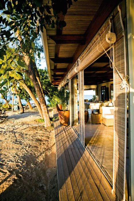 a house by the sea • the sun on the porch and the sand at your feet • L'Ilot, a villa on a private island, Mauritius