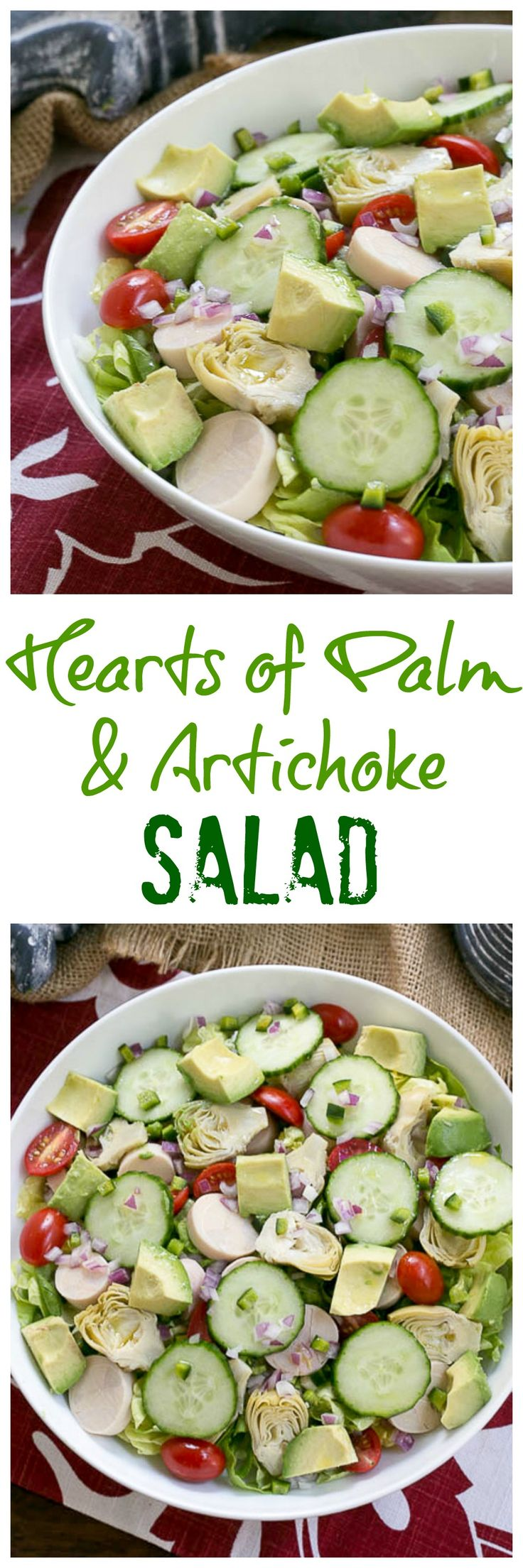Hearts of Palm, Artichoke, Avocado and Butter Lettuce Salad @lizzydo
