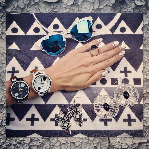 Geometric nails by Ziggy Glitterdust