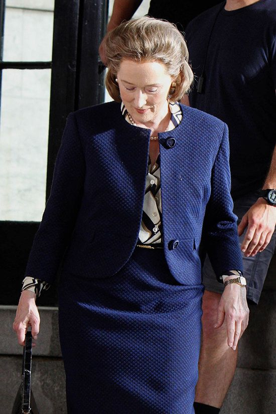 """Meryl Streep on the Set of """"The Papers"""" in NYC 