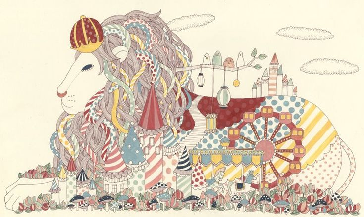 The Lion Kingdom - YOKO FURUSHO ILLUSTRATION