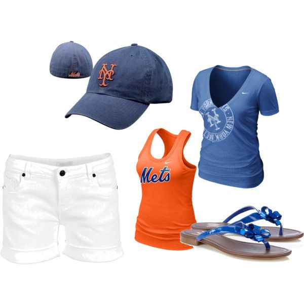 """""""Summer day at a NY Mets game"""" by jony2pgh on Polyvore"""