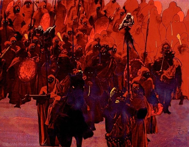 Orcs at Isengard, still from the Ralph Bakshi animated version of The Lord of a the Rings (1978)