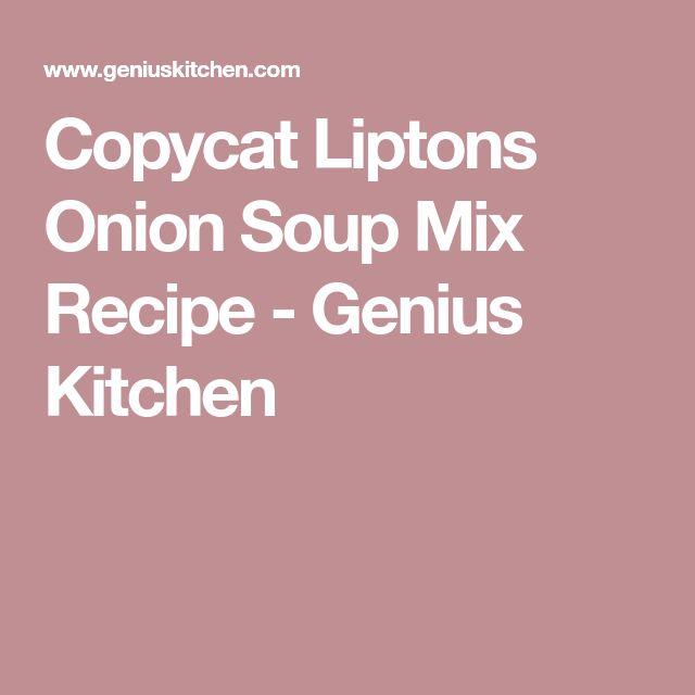 Copycat Liptons Onion Soup Mix Recipe - Genius Kitchen