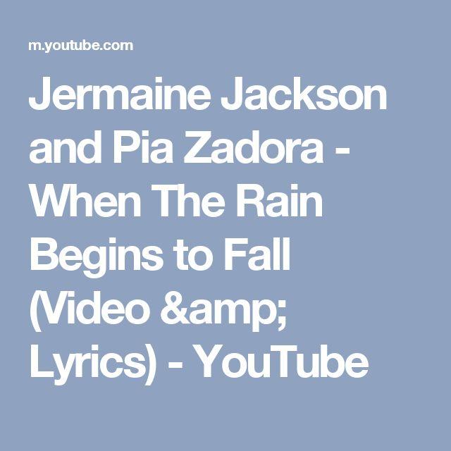 Jermaine Jackson and Pia Zadora - When The Rain Begins to Fall (Video & Lyrics) - YouTube
