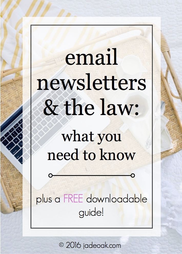 Email newsletters are SO important to building your blog/business. But make sure you know the laws and what you need to know to keep your newsletter legal.
