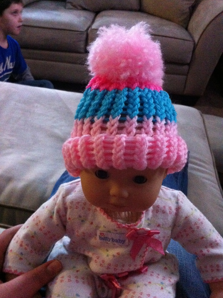 Loom Knit Baby Hat With Brim : Best images about loom knitting baby hats for little