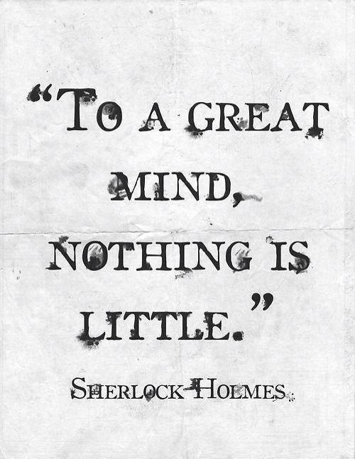 Sherlock Holmes.                                                                                                                                                      More