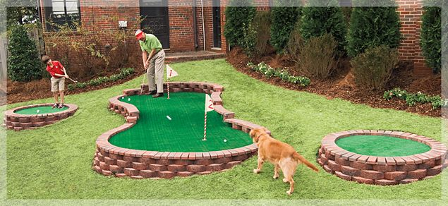 Backyard Putting Green     Make Father's Day a hole-in-one with this easy-to-build putting green.