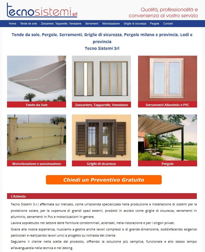 Gallery   Tecno Sistemi Srl  Tende da sole, Pergole, Serramenti, Griglie di sicurezza, Pergole milano e provincia, Lodi e provincia