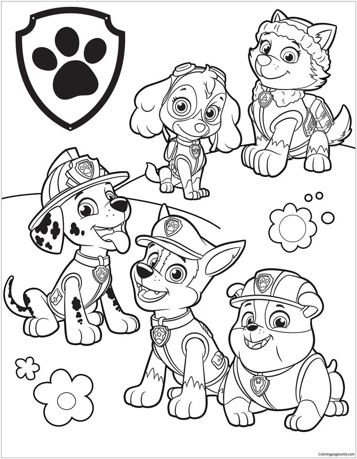 paw patrol birthday coloring pages - photo#13