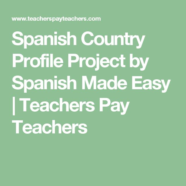Spanish Country Profile Project by Spanish Made Easy | Teachers Pay Teachers
