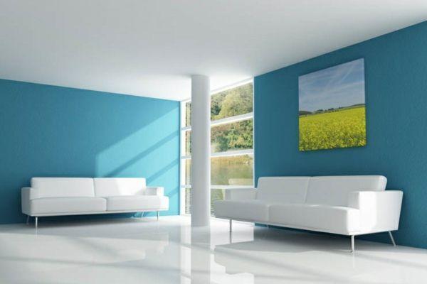 schönes Blau für die Wand