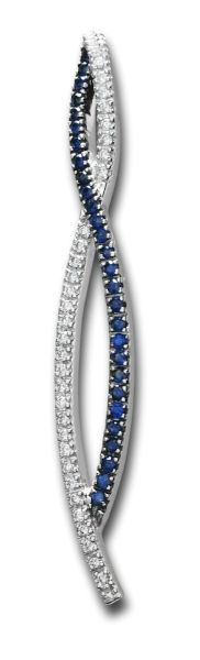 Estate Sapphire & Diamond Pendant