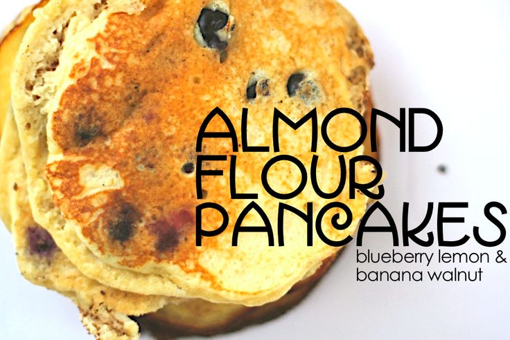 Jenessa's Dinners: almond flour pancakes (blueberry lemon & banana walnut).  #paleo #glutenfree