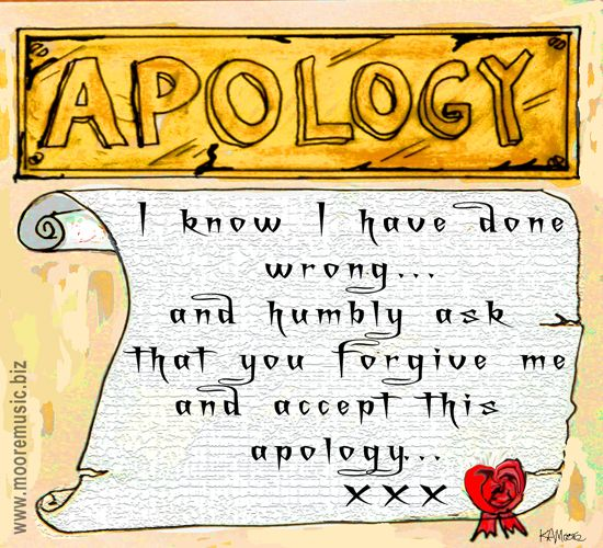 sorry poems – Free Printable Apology Cards