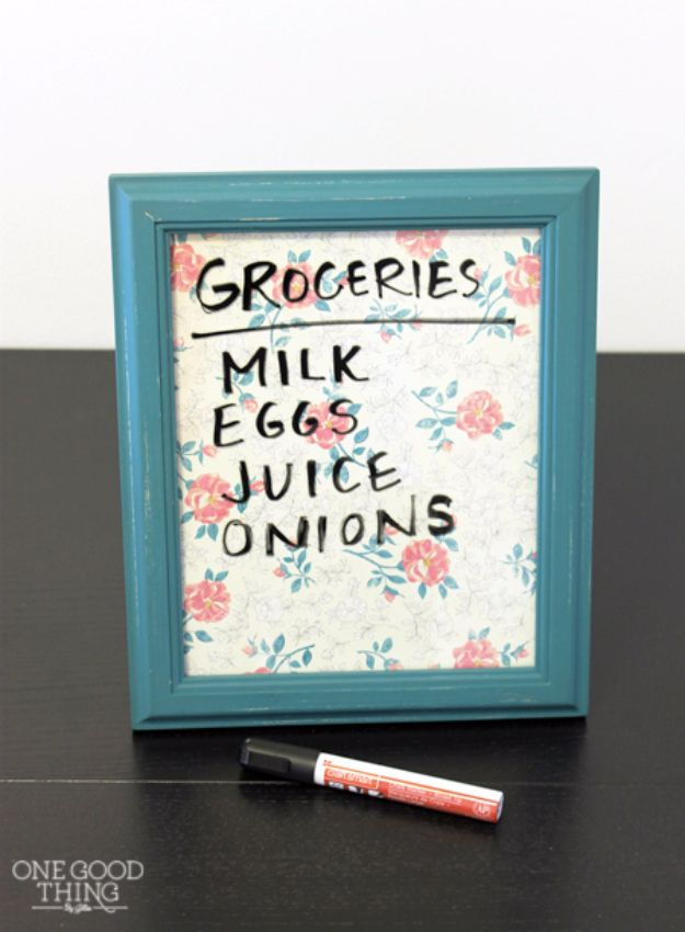 Dry Erase Boards - Inexpensive Ideas for DIY Craft Projects. Quick and Cheap DIY Ideas that Adults and Even Teens Can Make on A Budget http://diyjoy.com/cheap-crafts-to-make-and-sell