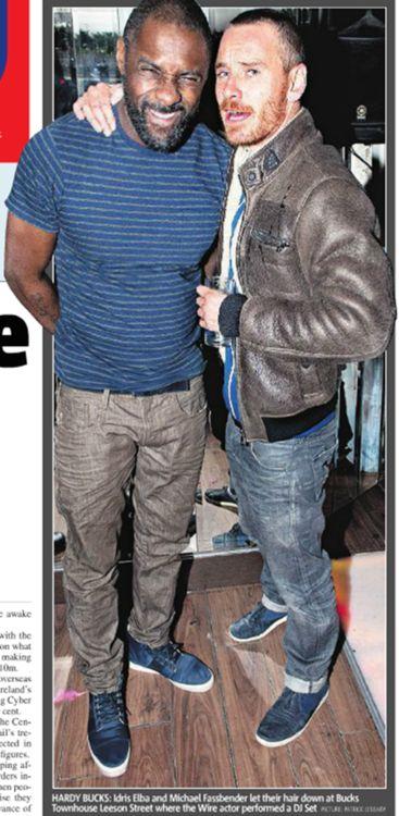 Michael Fassbender and Idris Elba
