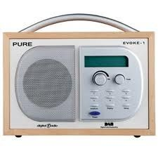 Wooden case on a DAB Digital Radio to suit the theme