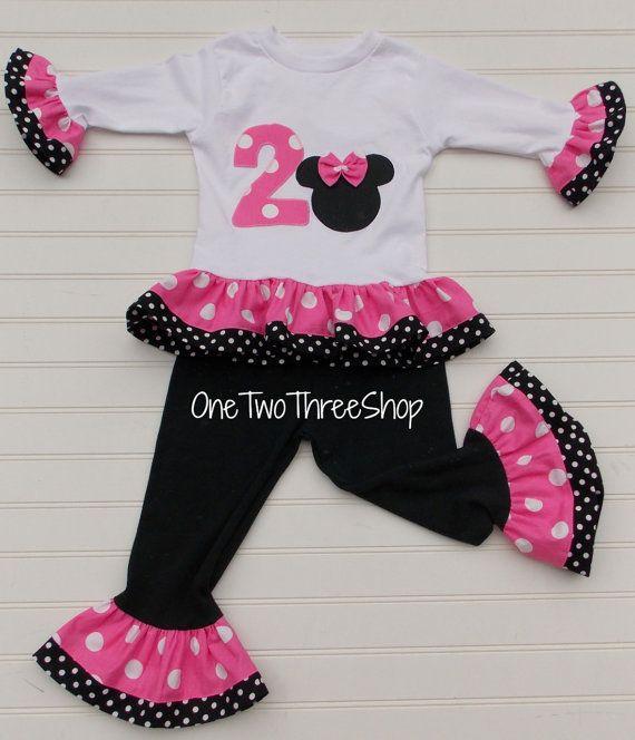Custom Boutique Clothing Minnie Mouse pants set