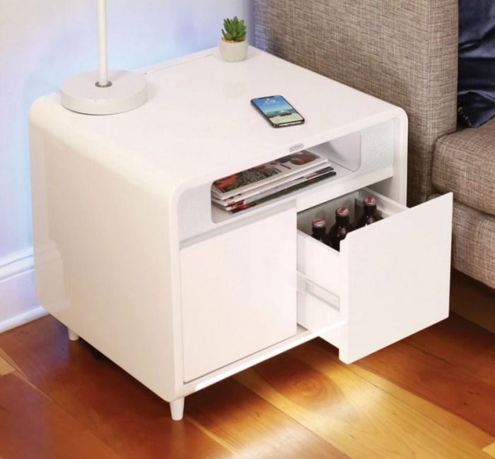 Sobro Smart Side Table With A Wireless Charging Pad
