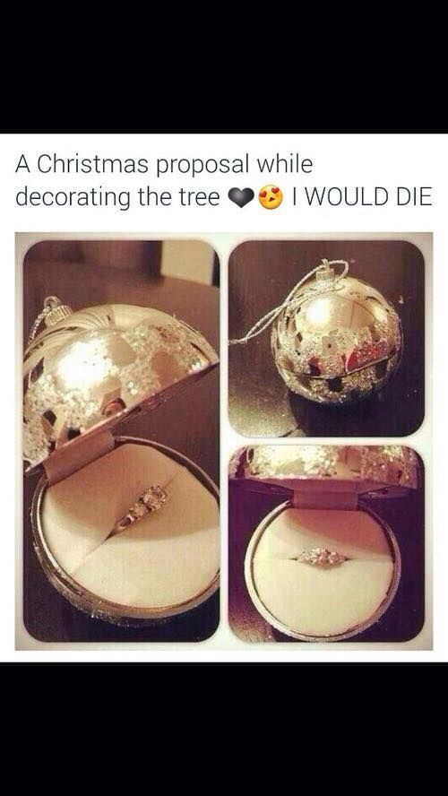 this is the sooooooo cute!! If my boyfriend is think about proposing to my in the christmas time, this is the cutes way to do it!! <3