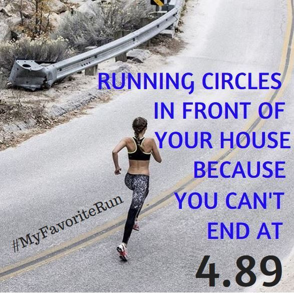 Things only runner understand ... run that clean 5..