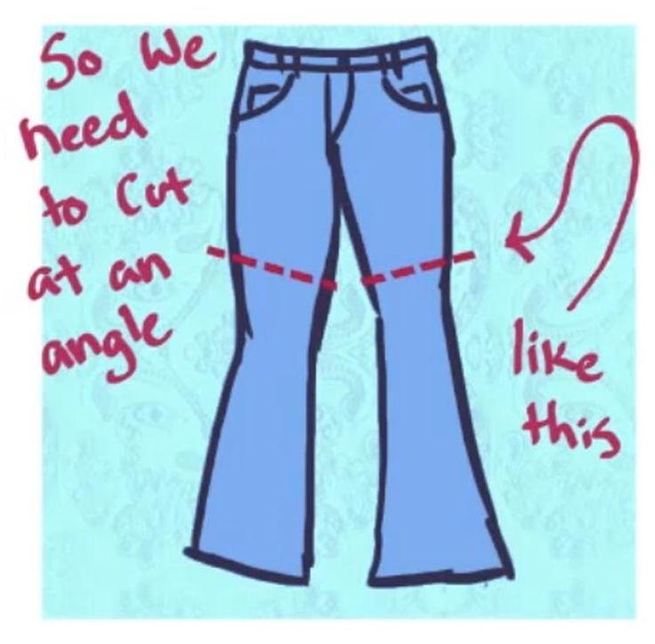 Hoe jeans spijkerbroek knippen in short korte broek