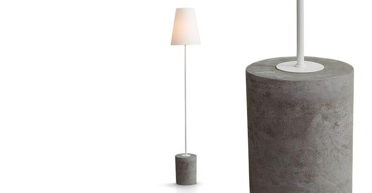 Ira Floor Lamp, White | made.com £89