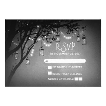 Charming rustic country wedding reply cards with old vintage tree fireflies mason jars and string lights #mason #jar #rsvp #string #lights #rsvp #twinkle #lights #rsvp #vintage #rsvp #wedding #reply #wedding #response #lights #mason #jar #lanterns #rsvp #rustic #country #rsvp #rustic #country #garden #tree #romantic #grey #black #and #white