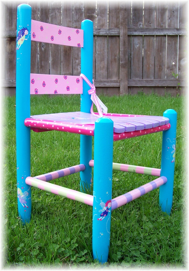 Childrens Hand Painted Chair Custom FAIRY PRINCESS Personalized Furniture KIDS