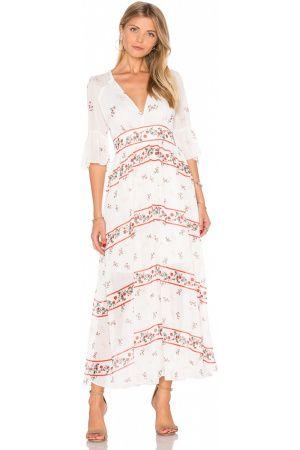 Femme Robes imprimées - ROBE MAXI ENCOLURE V À FLEURS