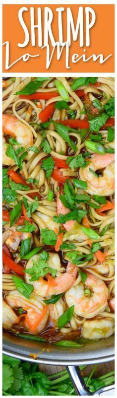 This Shrimp Lo Mein is so yummy! Quick and easy to make, lots of fresh veggies and the recipe make extra sauce (my favorite part!!!)